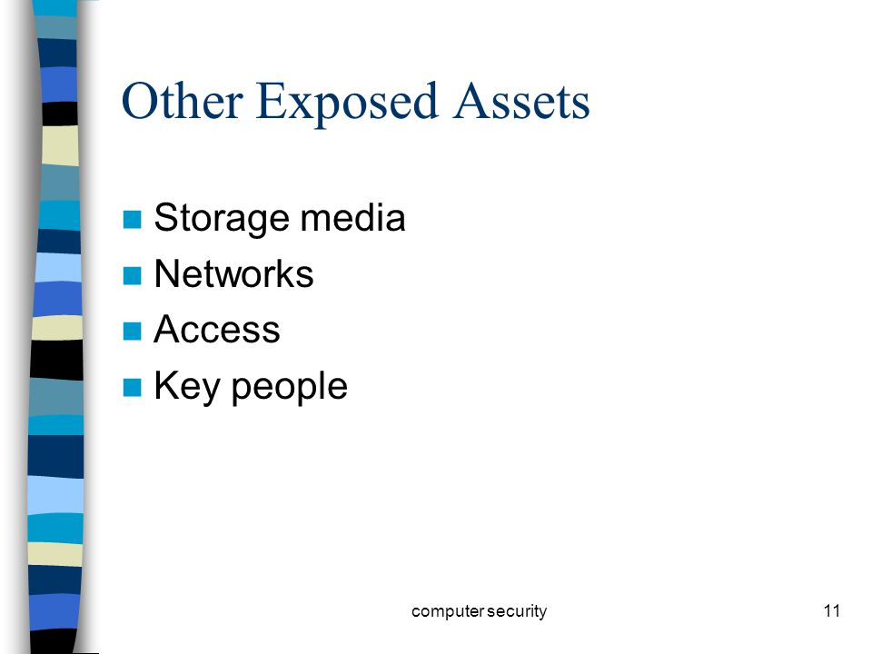 11 Other Exposed Assets Storage media Networks Access Key people computer security