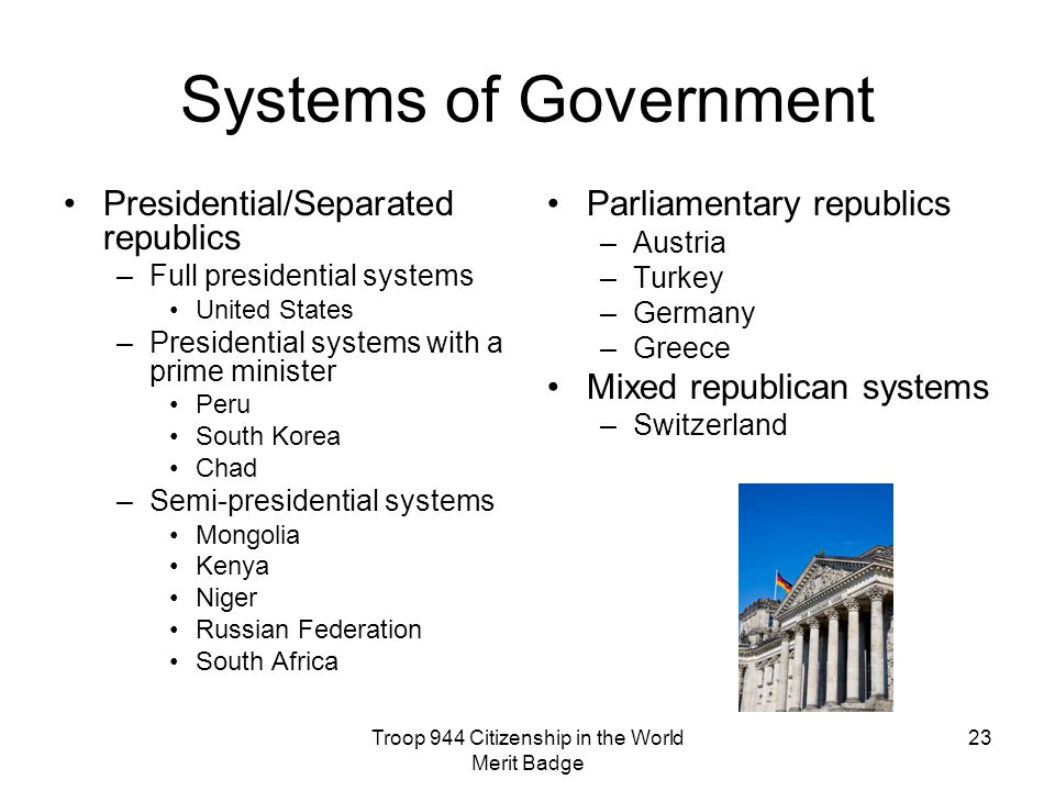 parliamentary government versus presidential government Parliamentary government: 1 the executive is not separated from the legislature the members of council of ministers are the members of legislature 2 the executive.