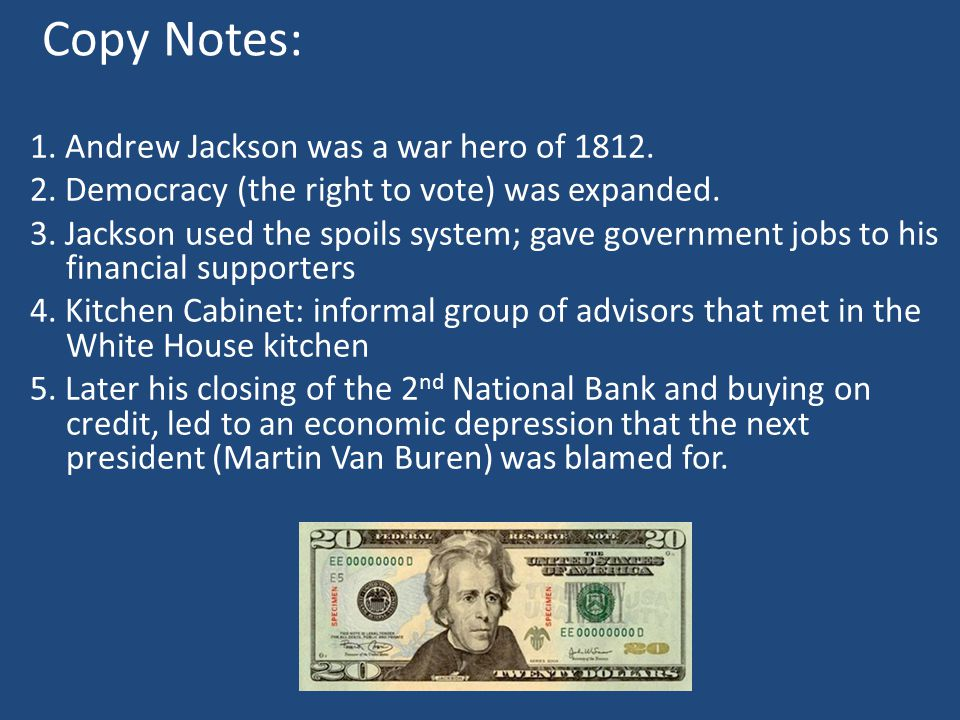 andrew jackson and his financial policies