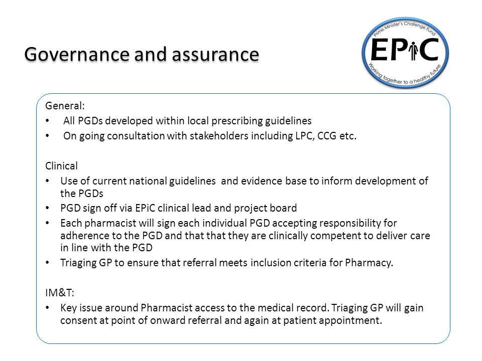 A new approach Extending the role of Pharmacy in Primary Care – Responsibility of a Pharmacist