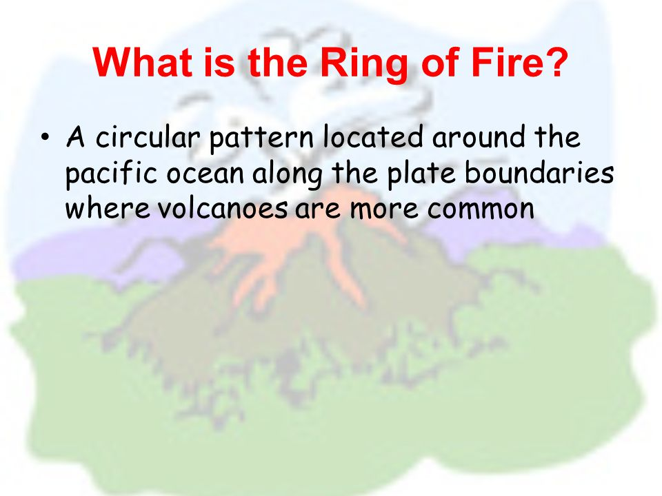 Where are volcanoes located.
