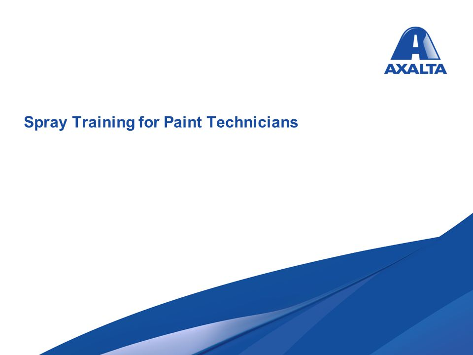 Spray Training for Paint Technicians