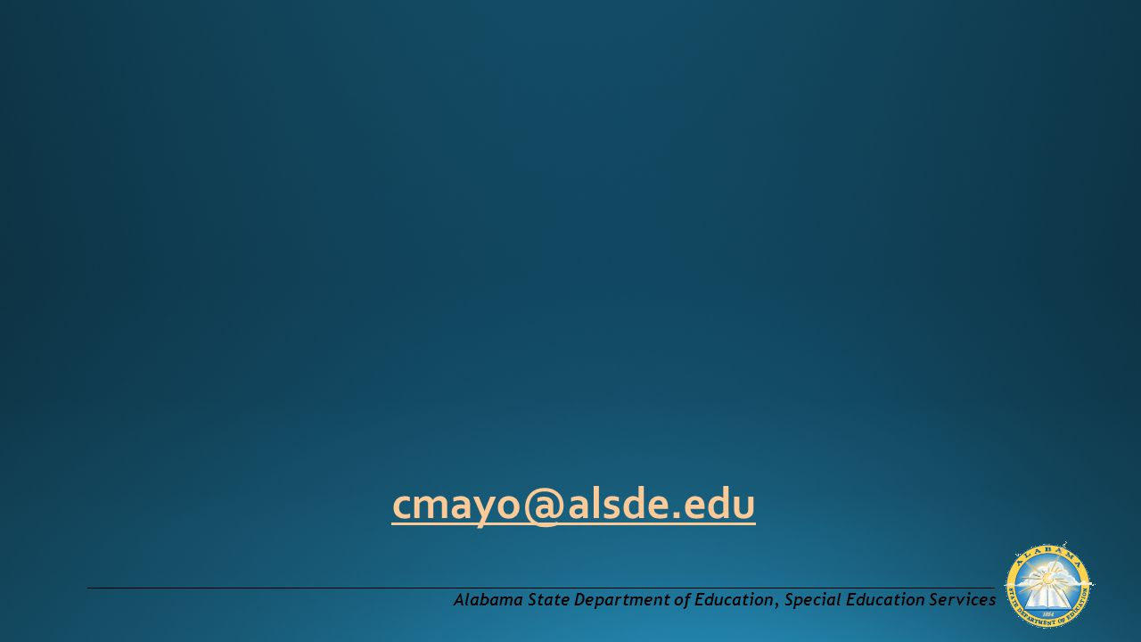 Alabama State Department of Education, Special Education Services