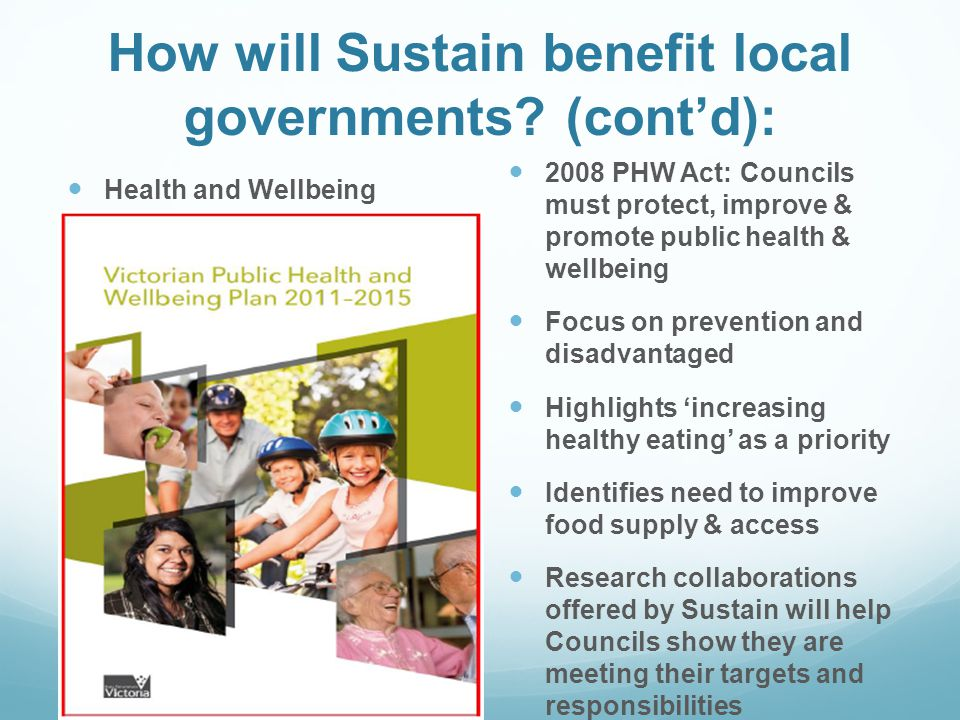 How will Sustain benefit local governments.