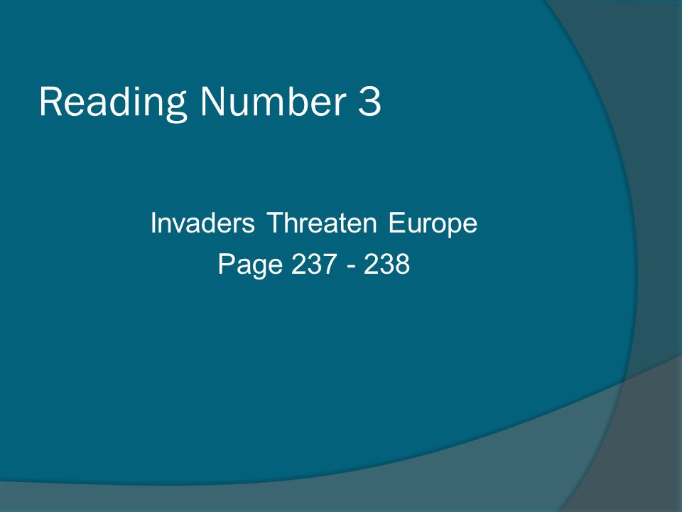 Reading Number 3 Invaders Threaten Europe Page