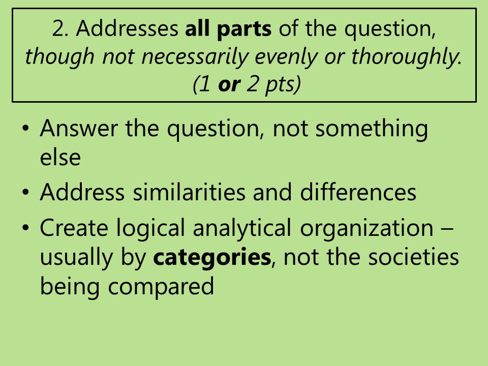 ap world comparative essay questions