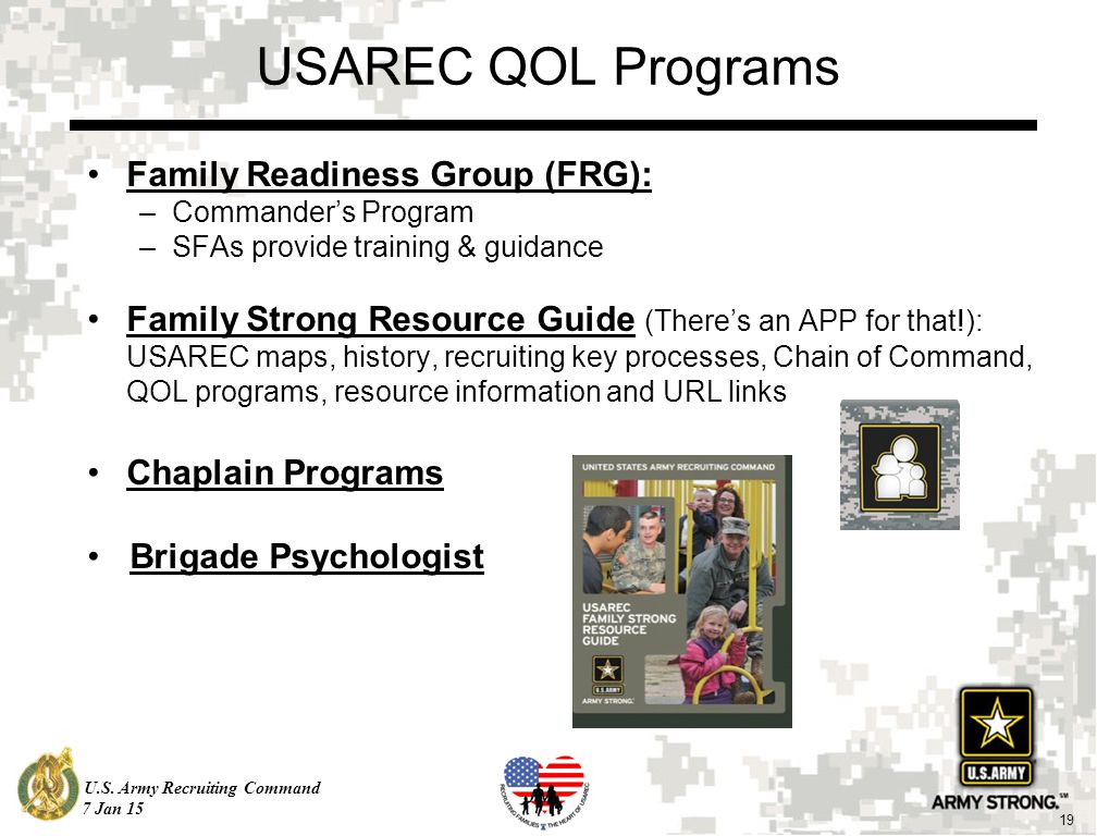 US Army Recruiting Command Jan Newcomers Orientation - Us army recruiting map