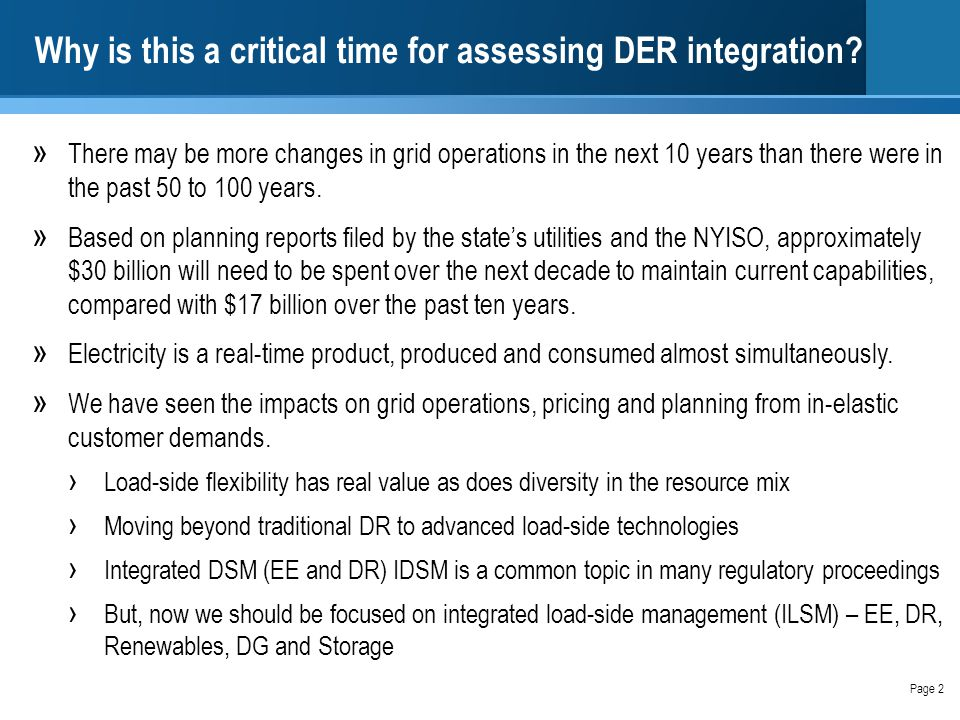 Why is this a critical time for assessing DER integration.