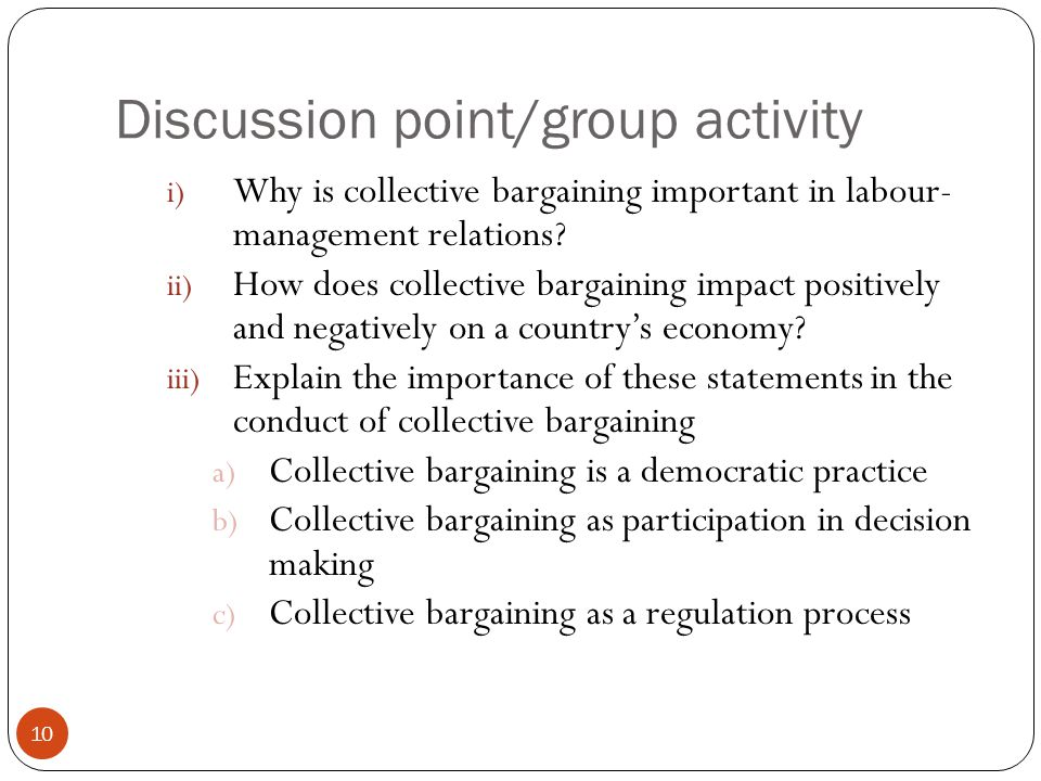 a case study in labor management and collective bargaining Study of personnel management, collective bargaining, labor the study of labor relations and collective relations and collective bargaining issues.