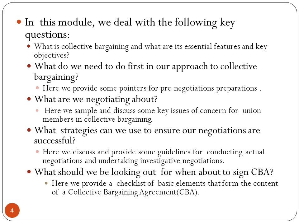 1 Critical Skills In Collective Bargaining A Workshop Presentation