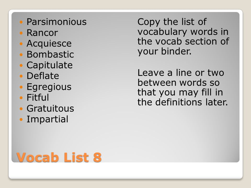 Vocabulary Words For Essay Writing