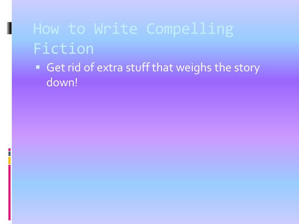 How to write a fiction story