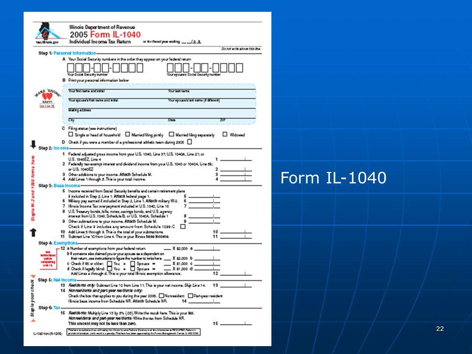 Free Form 2018 Illinois Tax Form Free Form
