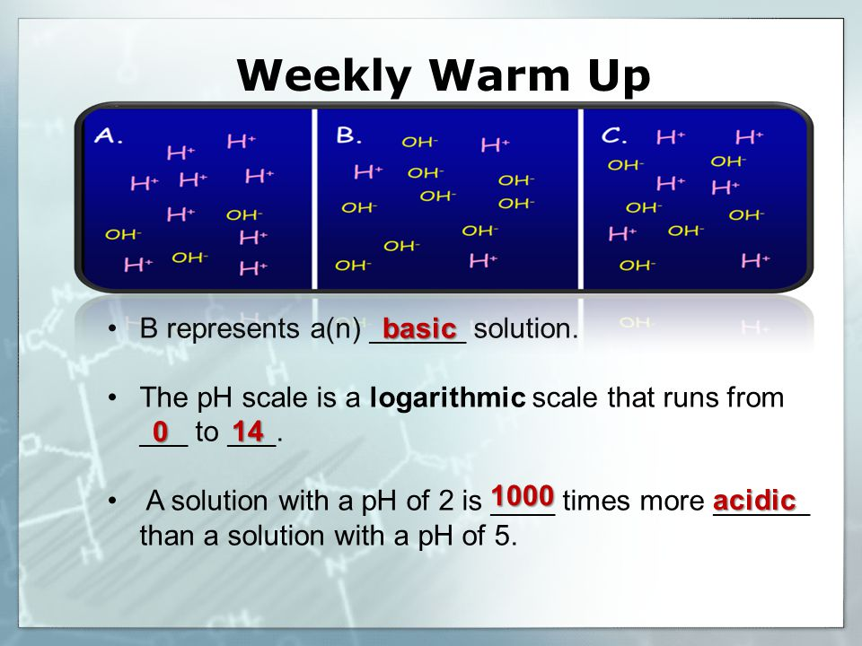 Weekly Warm Up B represents a(n) ______ solution.