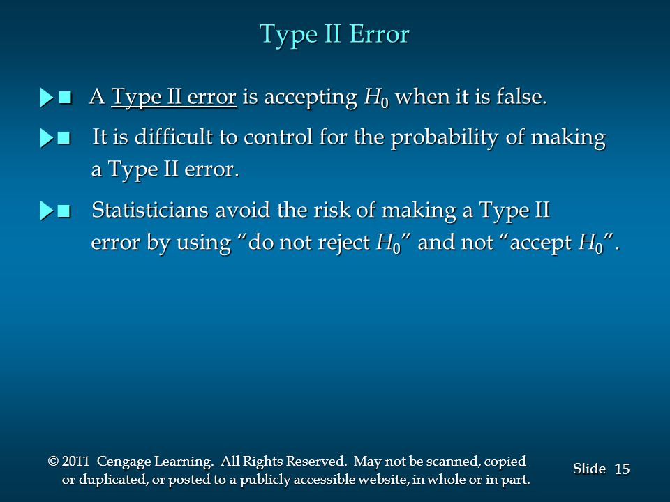 15 Slide © 2011 Cengage Learning. All Rights Reserved.