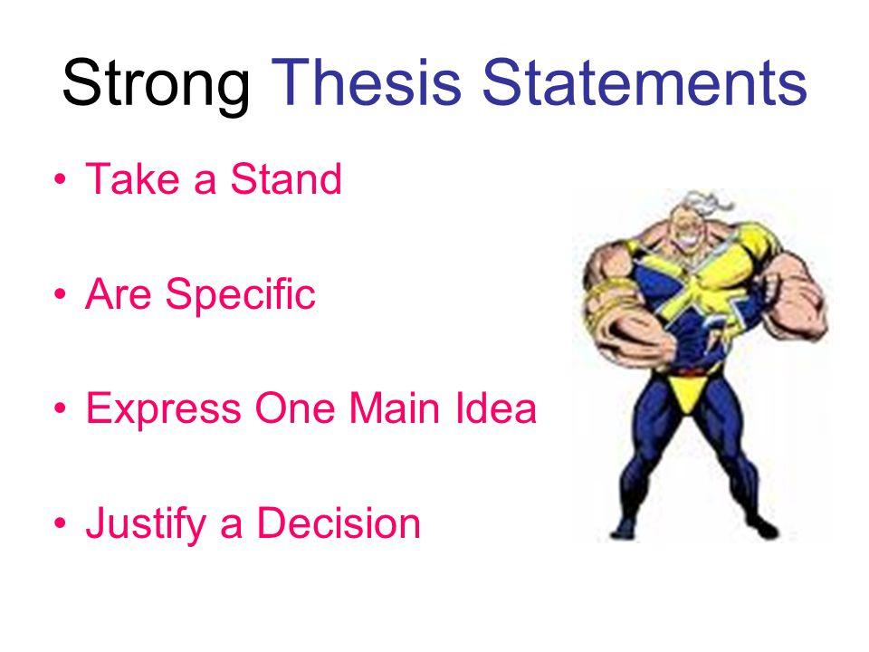 Take a stand essay