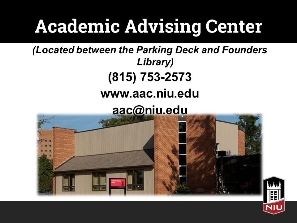 Academic Advising Center (Located between the Parking Deck and Founders Library) (815)