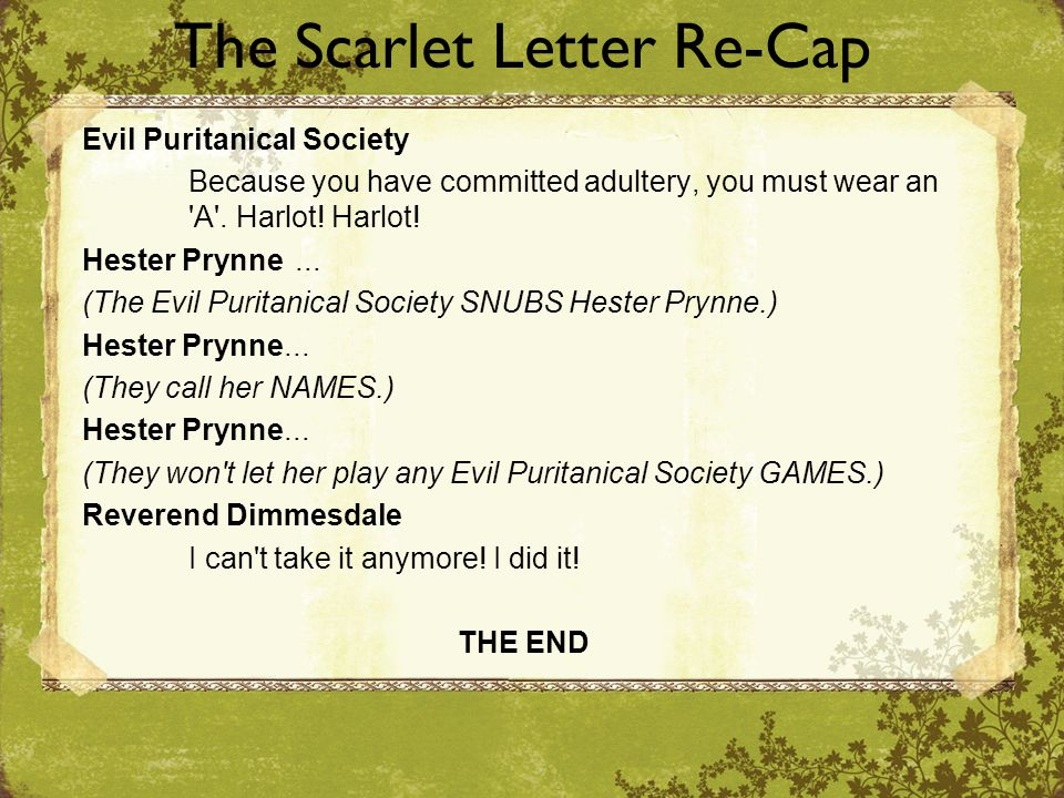 Help with an Interprative Essay: The Scarlet Letter?