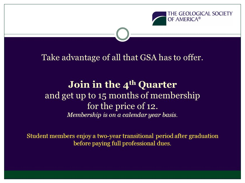 Take advantage of all that GSA has to offer.