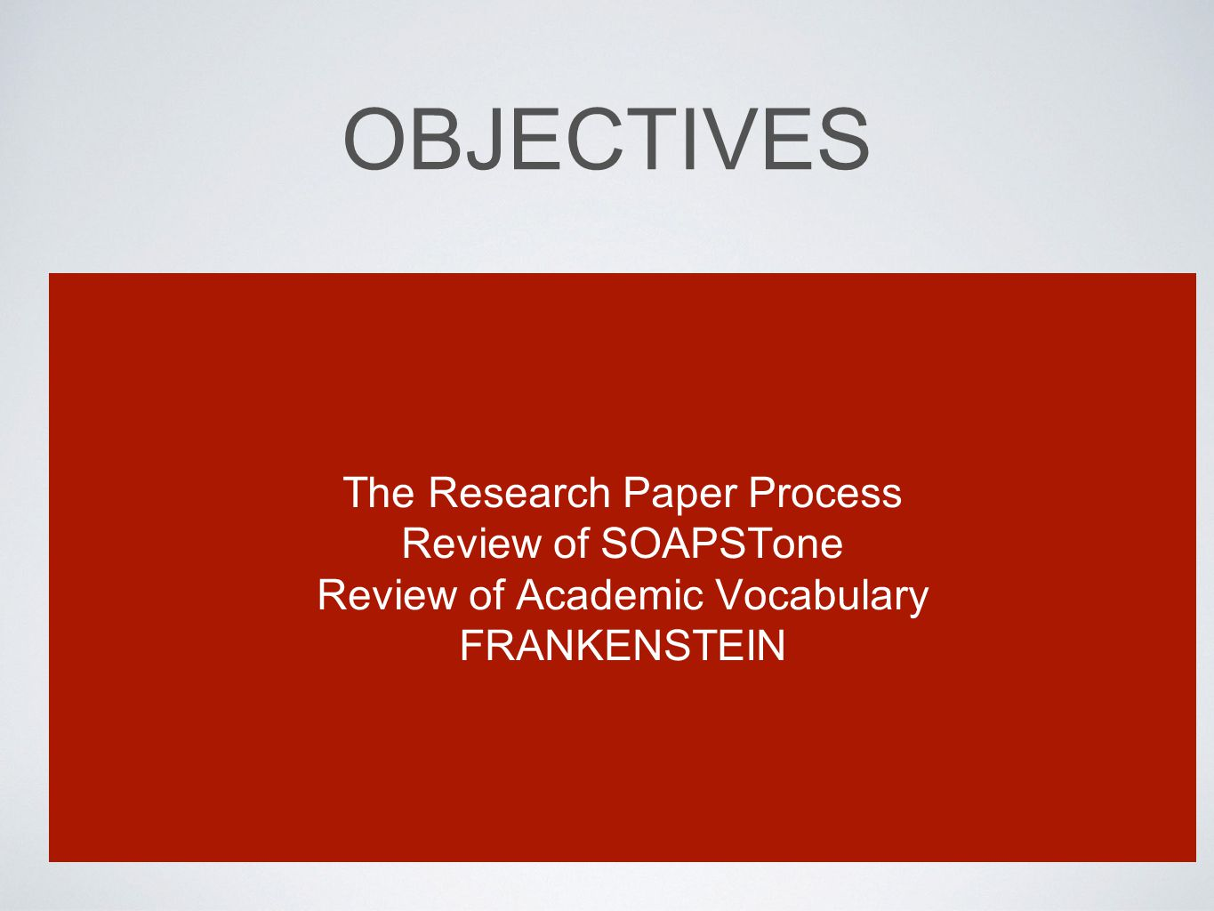 Do Literary Academic Papers count as a form of research?