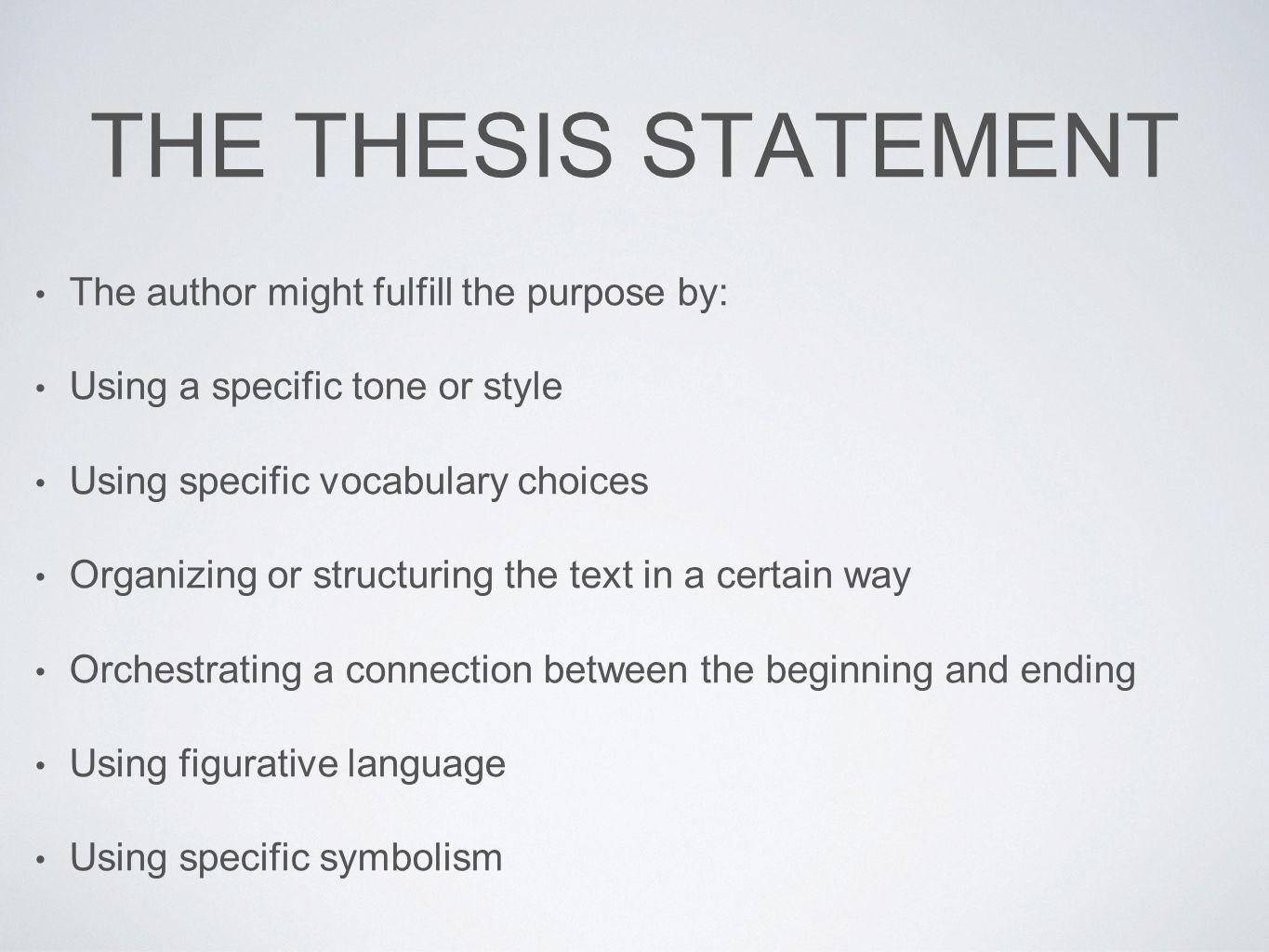 thesis statement for stephen king research paper