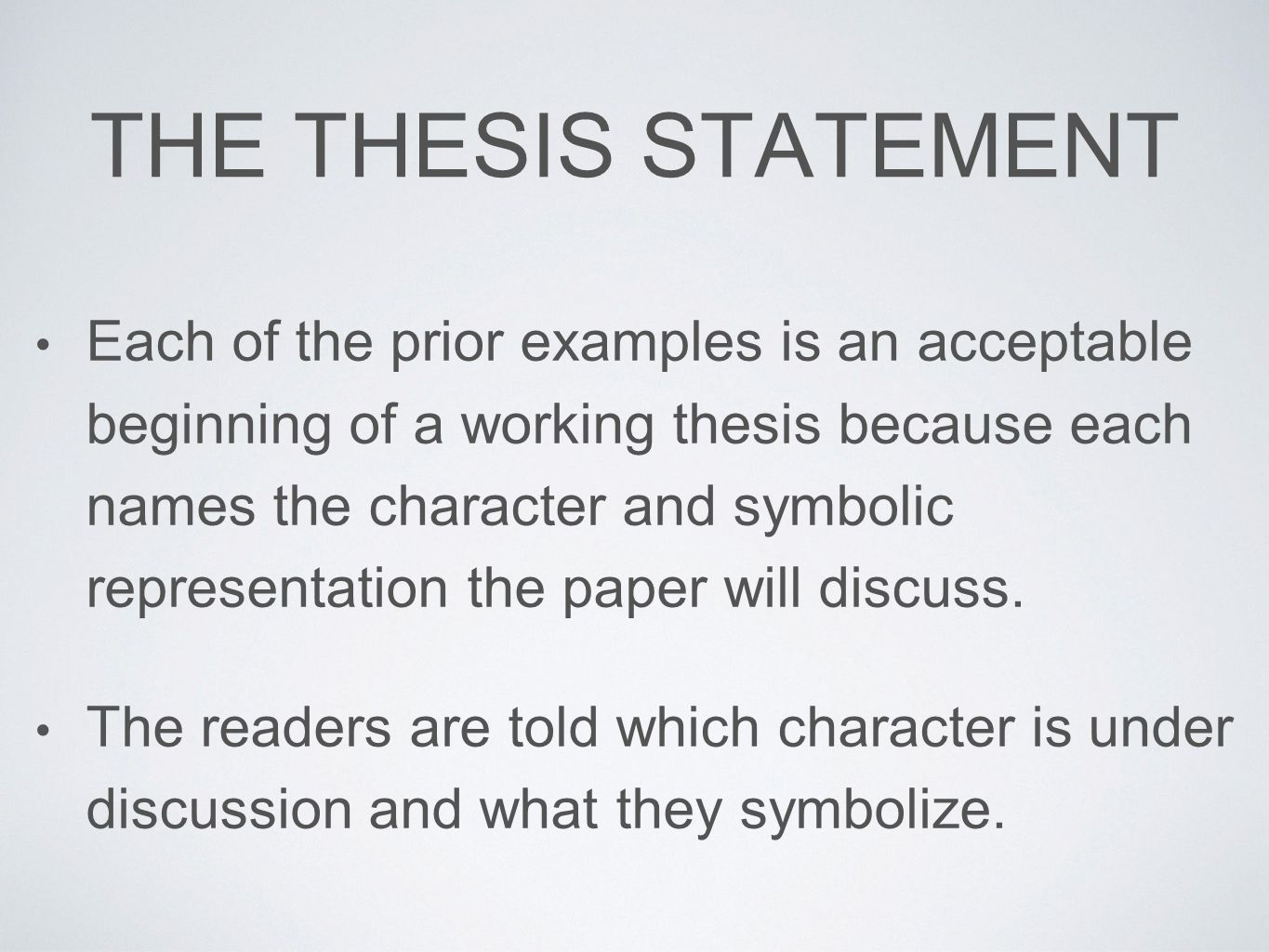 different ways to write thesis statements