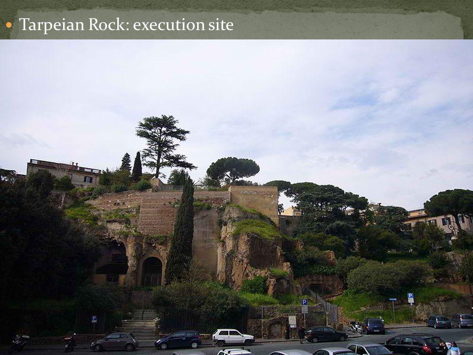 Tarpeian Rock: execution site
