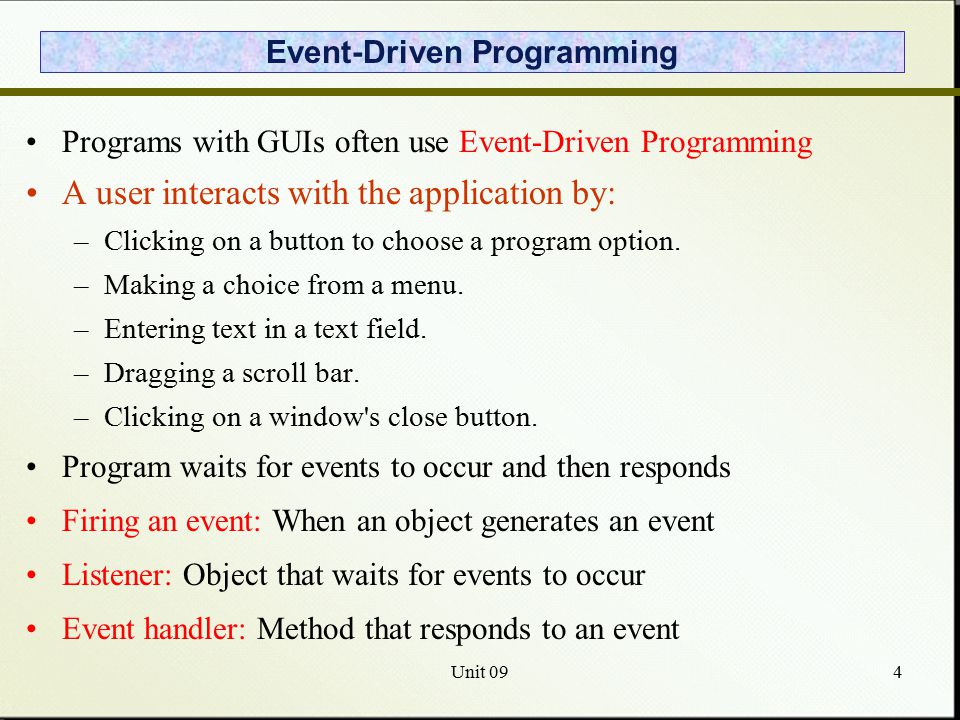 making a program for an event