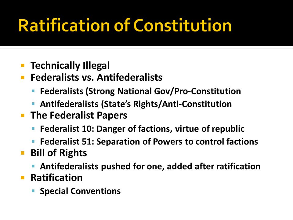 ratification of constitution essay