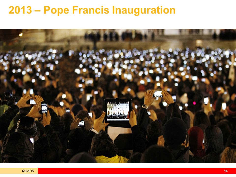 2013 – Pope Francis Inauguration 6/9/201514
