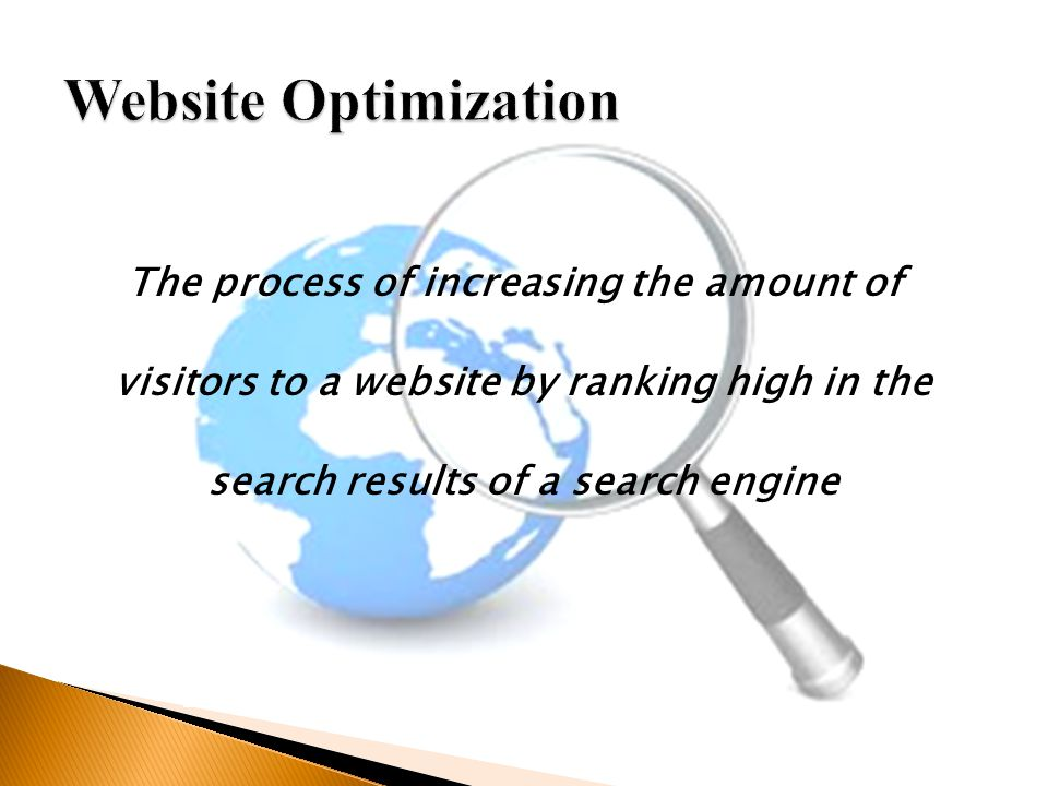 The process of increasing the amount of visitors to a website by ranking high in the search results of a search engine