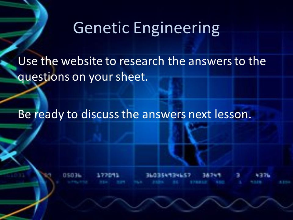 Genetic Technologies Genetic Engineering Gene Therapy Ppt Download