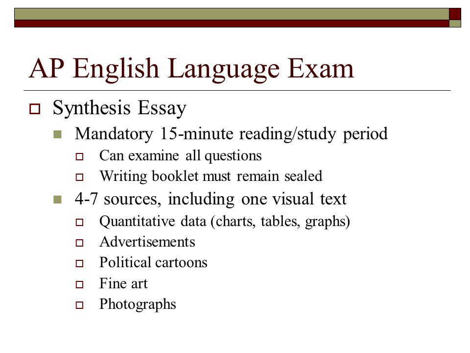 ap english language synthesis essay advertising 57 past ap english language and composition essay topics in the following chart, you will find a paraphrasing of ap english language and composition essay topics.