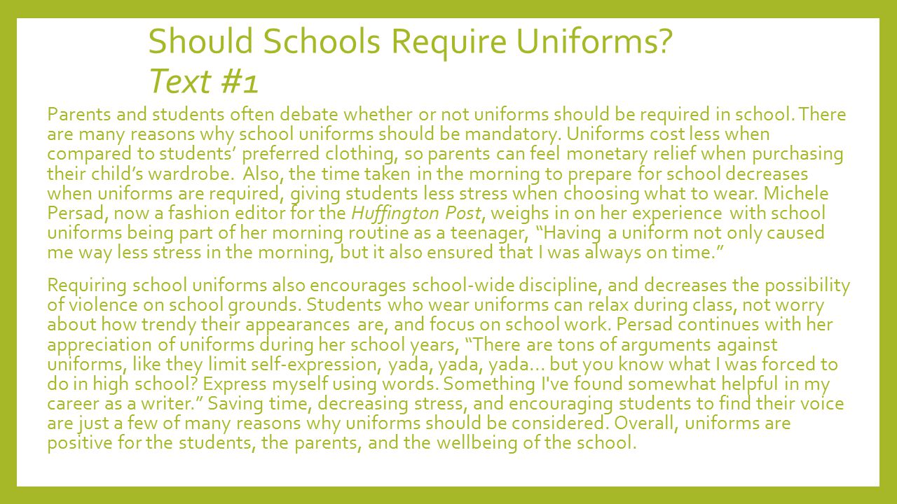 An Against School Uniforms Essay - Writing Tips And