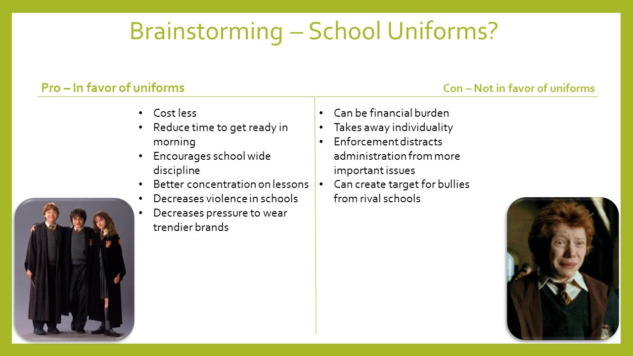implementation of school uniforms essay