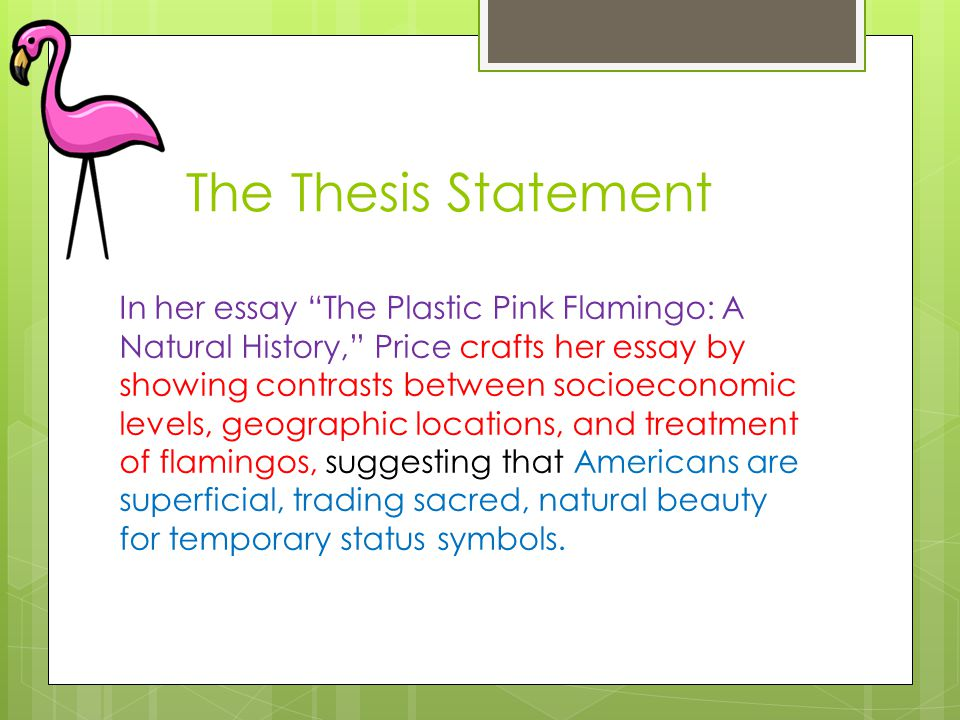 jennifer price the plastic pink flamingo a natural history ap english language and composition free