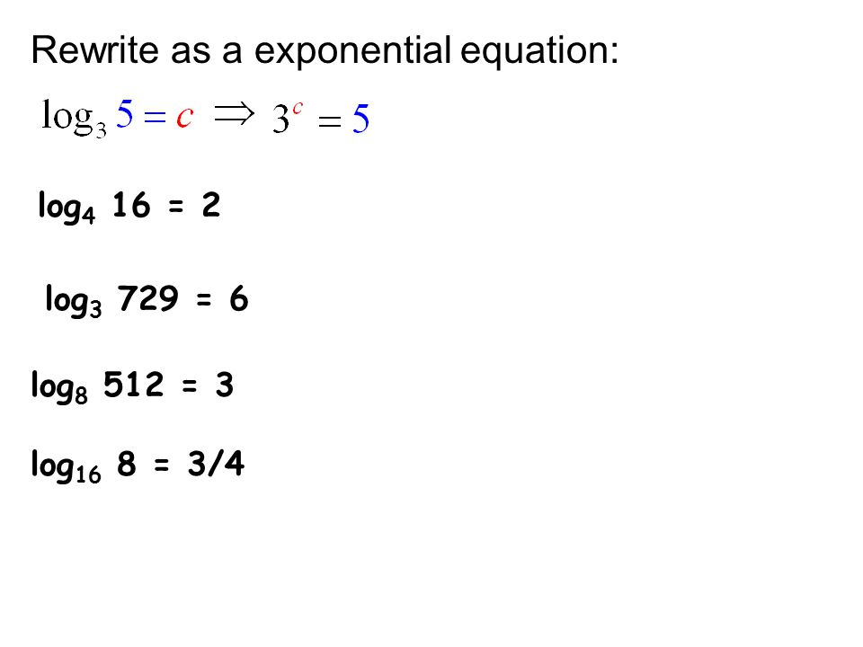 Unit 7 Logarithms Exponential functions Logarithmic functions ...