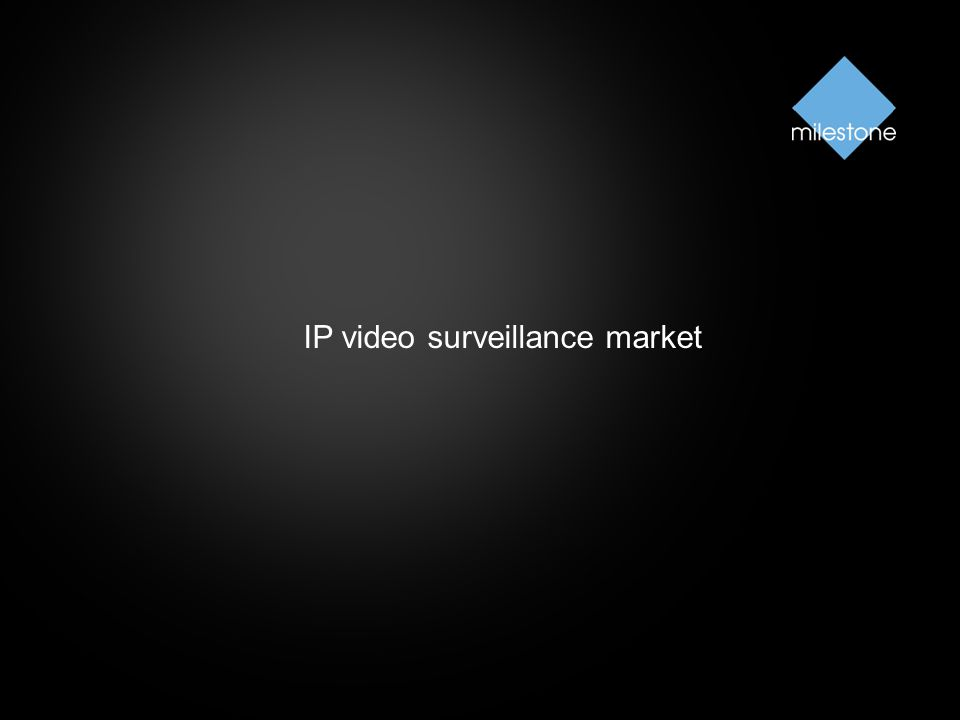 IP video surveillance market