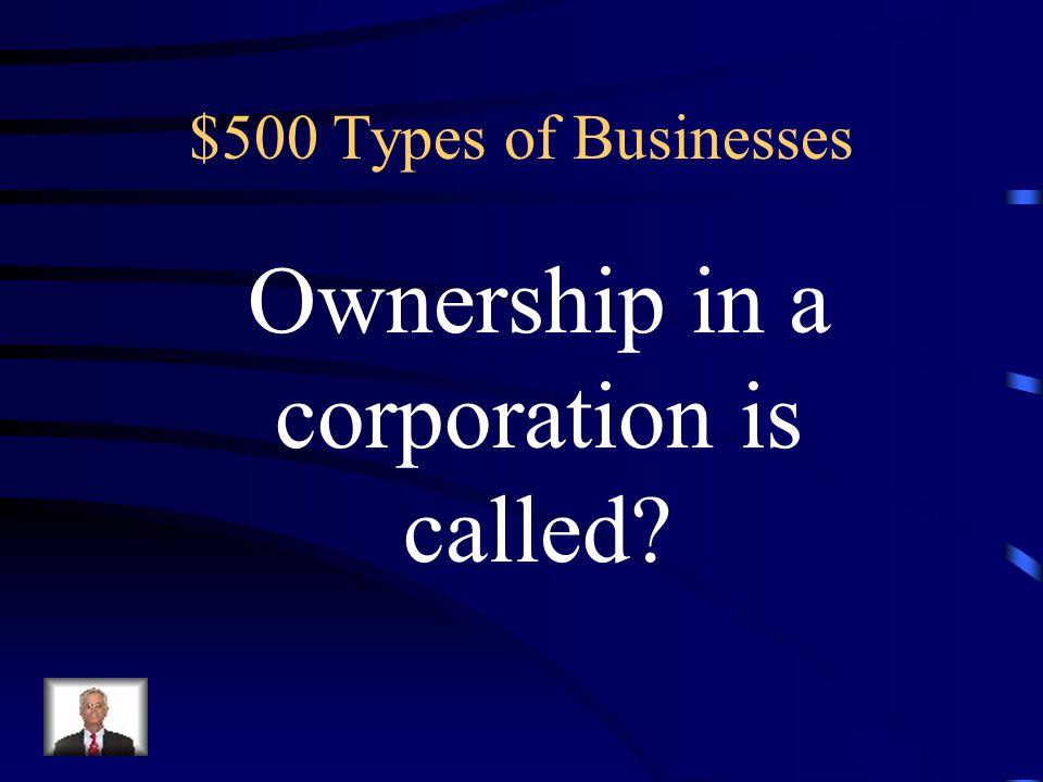 $400 Answer for Types of Businesses Entrepreneur