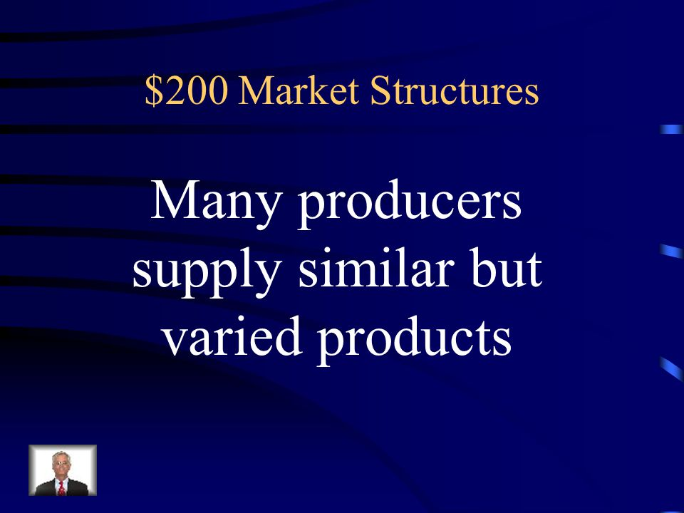 $100 Answer for Market Structures Resource monopolies Government-created monopolies Competitive monopolies Natural monopolies