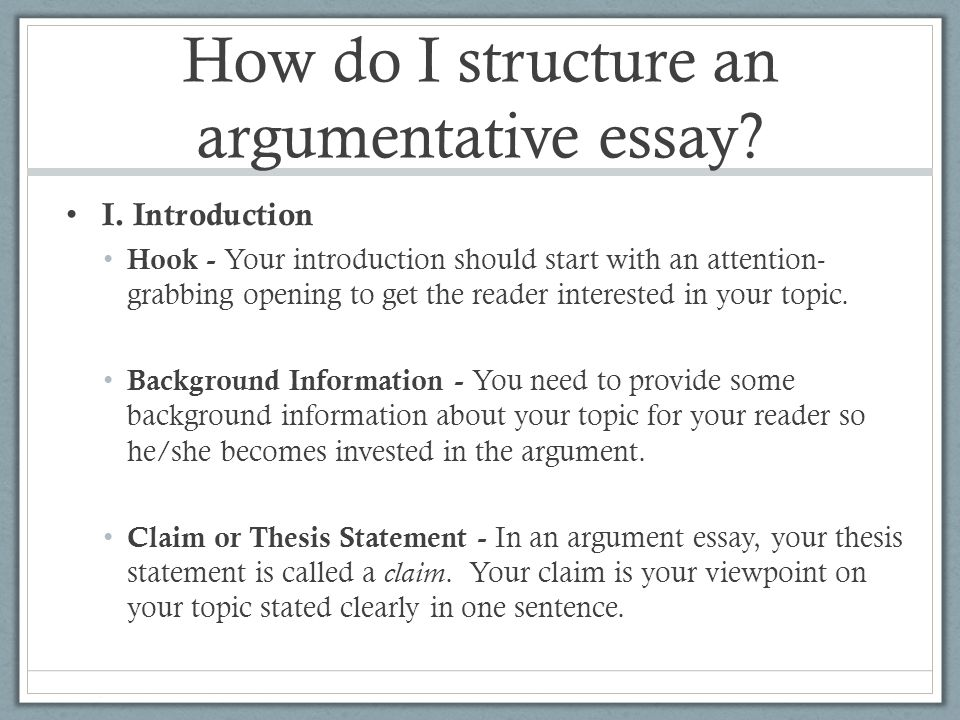 writing introduction of argumentative essay