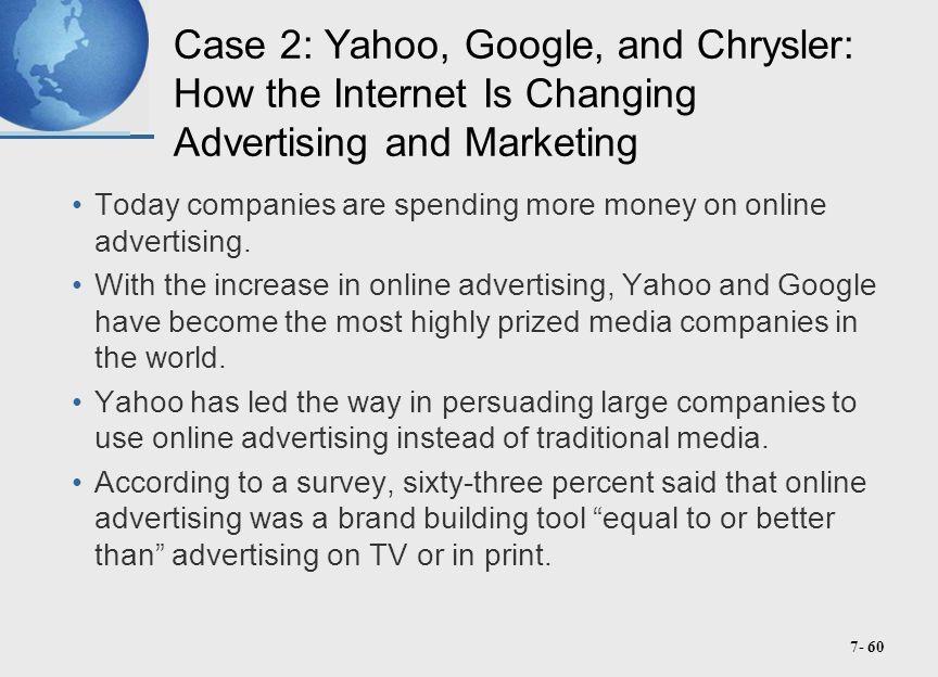 Yahoo google and chrysler case study