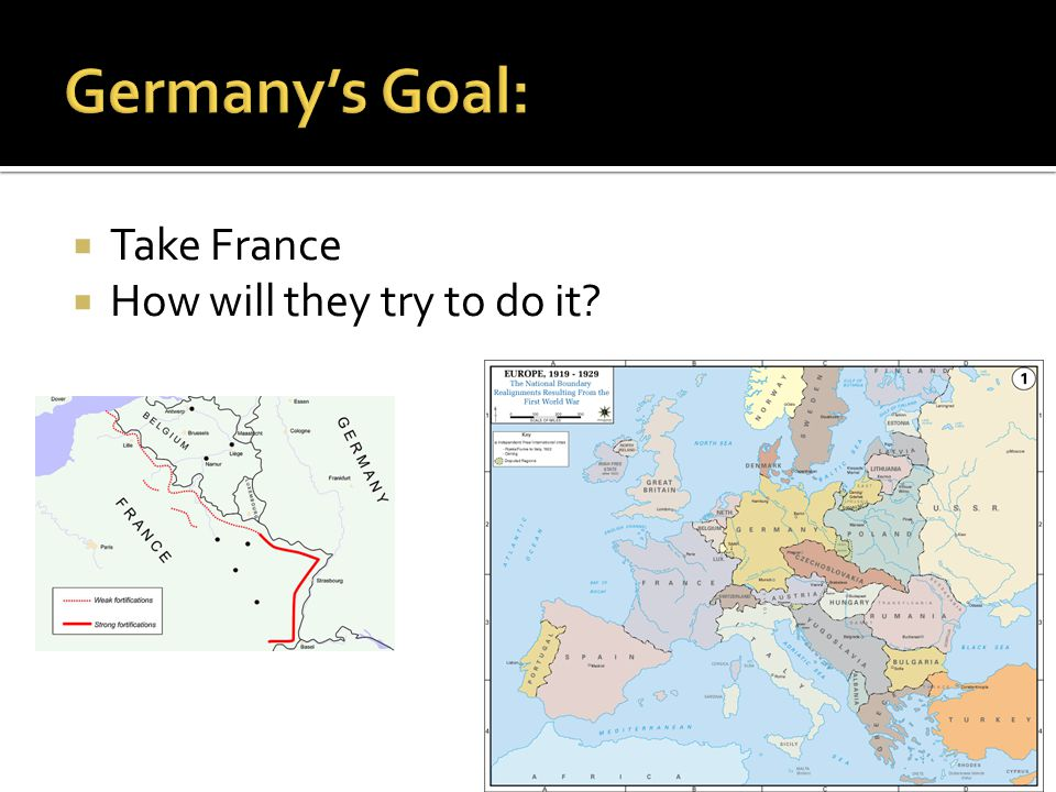  Take France  How will they try to do it