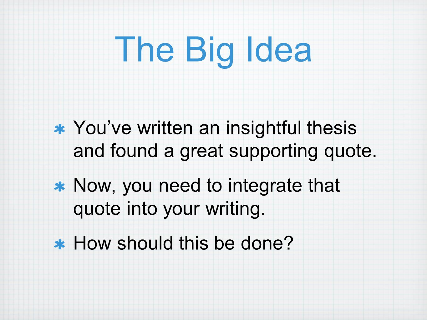 writing a great thesis Although this thesis is a bit wordy, it does accomplish all three of the goals of a successful thesis the reader knows what you plan to discuss in the paper, what you are going to argue about your topic, and why it is important.