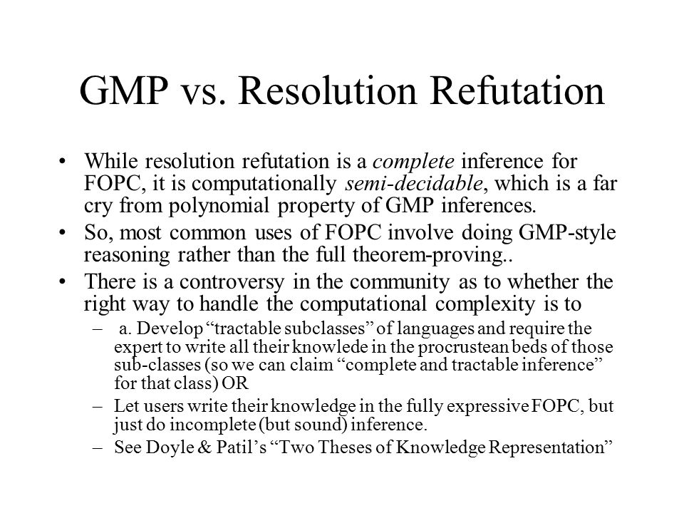 GMP vs.
