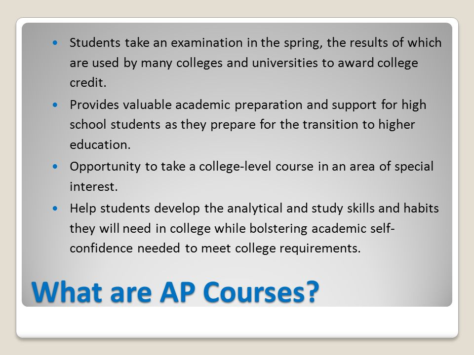 What are AP Courses.