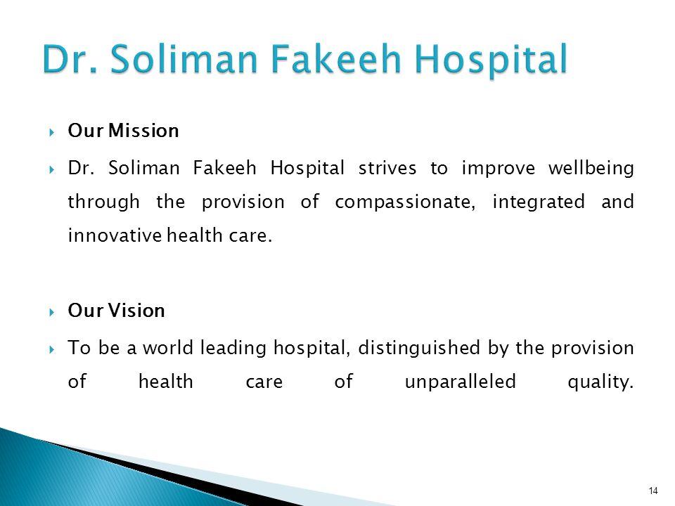  Our Mission  Dr.