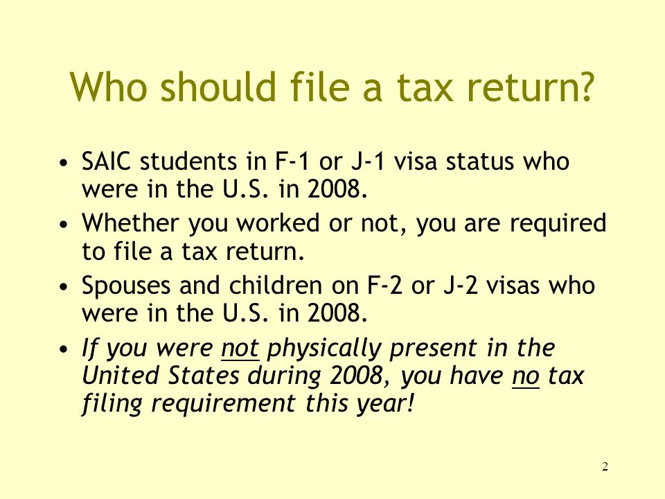 1 Tax Responsibilities for International Students Office of ...