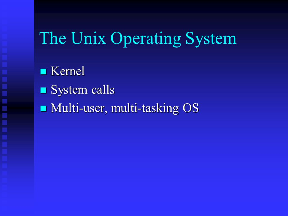 the unix operative system 416 free unix-like operating systems 2 history of operating systems an operating system (os) is a software program that manages the hardware and software.