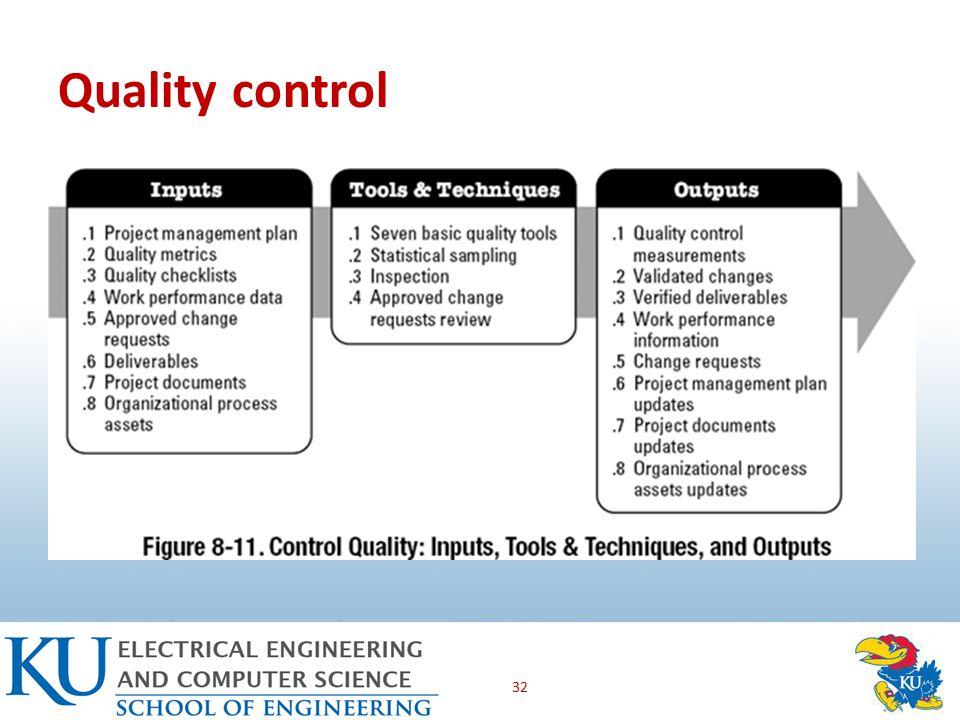 Quality control 32